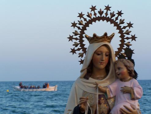 Image result for virgen del carmen barca